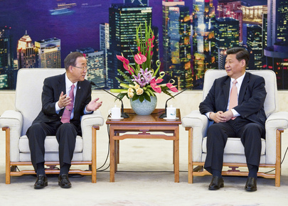 Secretary-General Meets Vice President of China