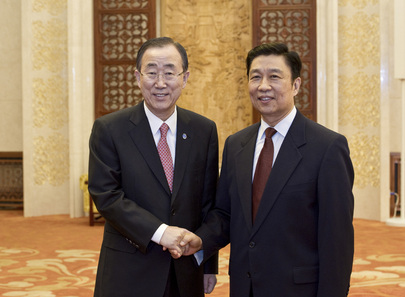 Secretary-General Meets Organization Minister of China's Communist Party