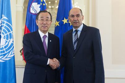 Secretary-General Meets Prime Minister of Slovenia