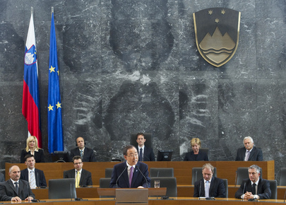 Secretary-General Addresses Parliament of Slovenia