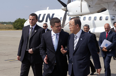 Secretary-General Welcomed by Serbian Foreign Minister