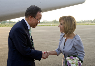 Secretary-General Welcomed by Culture Minister of former Yugoslav Republic of Macedonia