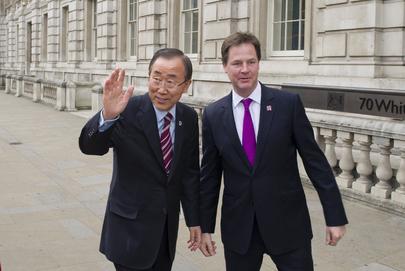 Secretary-General Meets U.K. Deputy Prime Minister