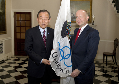 Secretary-General Joins U.K. Foreign Secretary for Olympic Truce Event