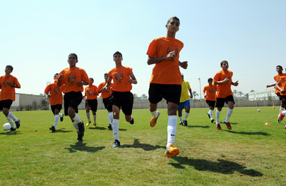 Palestinian Children Train for Norway Cup 2012