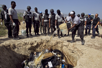 Haitian National Police Destroy over Two Tons of Drugs
