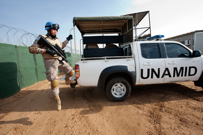 Indonesian Peacekeepers Provide Security in North Darfur