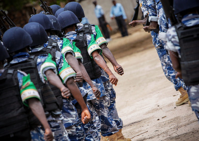 AMISOM's First Formed Police Unit Arrives in Mogadishu