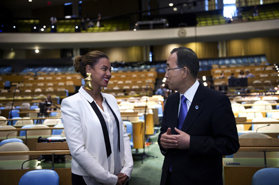 Secretary-General Ban Ki-moon Meets Beyoncé Knowles