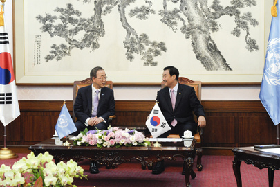 Secretary-General Meets Speaker of National Assembly in Seoul
