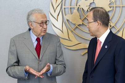 Secretary-General Meets New Joint Special Representative for Syria