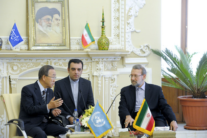 Secretary-General Meets Chairman of Iranian Parliament
