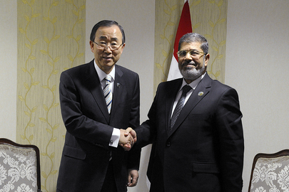 Secretary-General Meets President of Egypt at NAM Summit