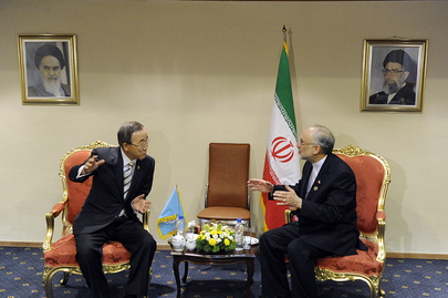Secretary-General Meets Foreign Minister of Iran at NAM Summit