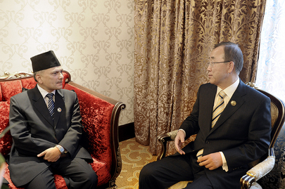 Secretary-General Meets Prime Minister of Nepal at NAM Summit
