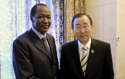 Secretary-General Meets President of Burkina Faso at NAM Summit