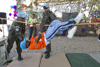 300 Haitian Children Participate in MINUSTAH Activities Day