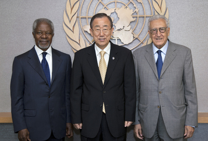 Secretary-General Meets Kofi Annan and Lakhdar Brahimi