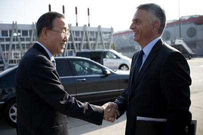 Secretary-General Arrives in Geneva