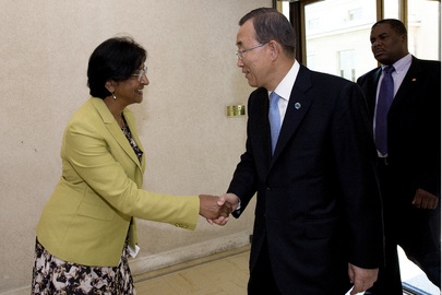 Secretary-General Meets Human Rights Commissioner in Geneva