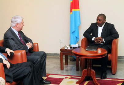Peacekeeping Head Meets President of DRC