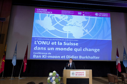 Secretary-General Delivers Public Lecture at University of Geneva