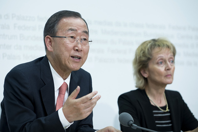 Secretary-General Addresses Joint Press Conference with Swiss President