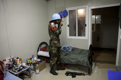 ONUCI Peacekeepers Prepare for Night Patrol