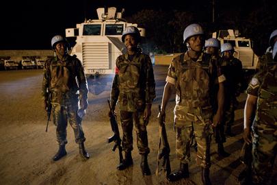 ONUCI Peacekeepers Prepare for Night Patrol