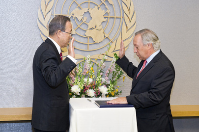 Assistant Secretary-General for Enterprise Resource Planning Project Sworn In