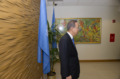 Secretary-General before Meeting with Mali Prime Minister
