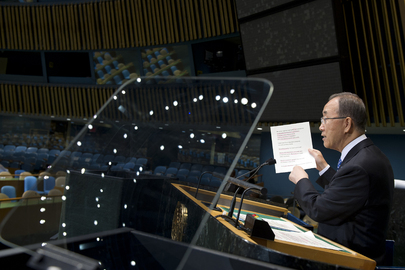 Secretary-General Rehearses Speech for Assembly's General Debate