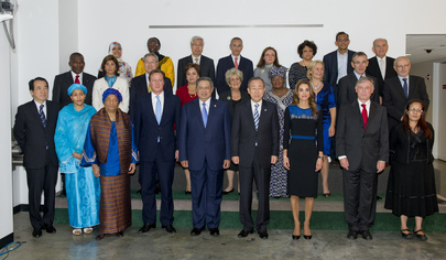 Group Photo of High-Level Panel on Post-2015 Development Agenda