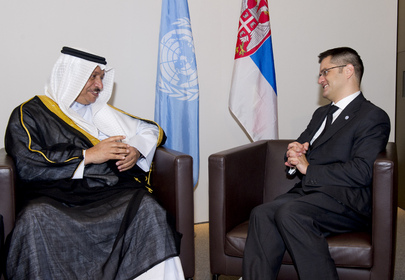 General Assembly President Meets Prime Minister of Kuwait