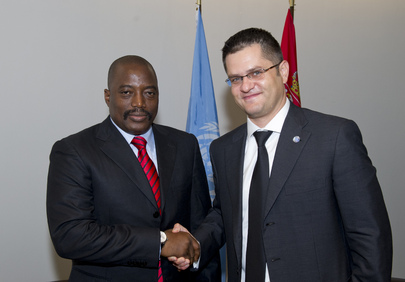 General Assembly President Meets President of Democratic Republic of Congo