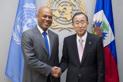 Secretary-General Meets President of Haiti