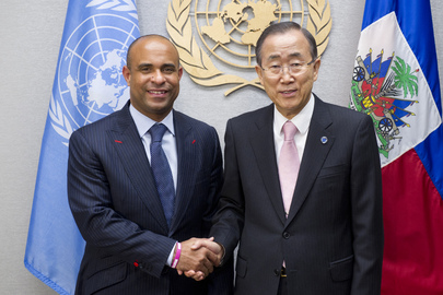 Secretary-General Meets Prime Minister of Haiti