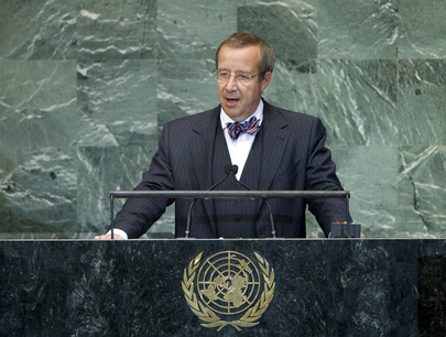 President of Estonia Addresses General Assembly