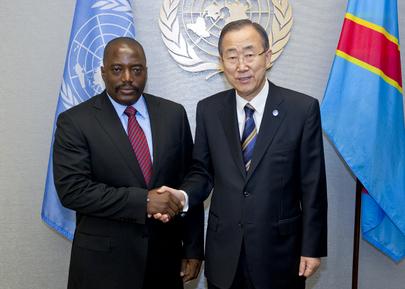 Secretary-General Meets President of Democratic Republic of Congo