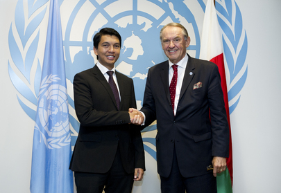 Deputy Secretary-General Meets President of Transitional Authority of Madagascar