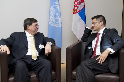 General Assembly President Meets Foreign Minister of Cuba