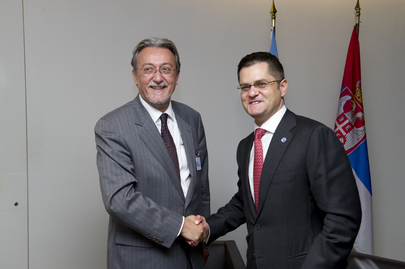 General Assembly President Meets Minister for Foreign Affairs of Montenegro