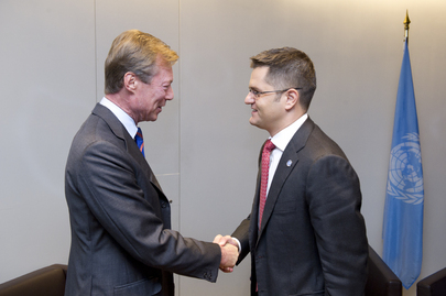 General Assembly President Meets Grand Duke of Luxembourg