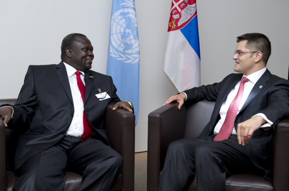 General Assembly President Meets South Sudanese Vice President