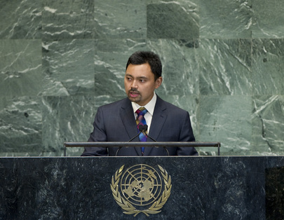 Crown Prince of Brunei Darussalam Addresses General Assembly