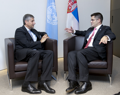 General Assembly President Meets Foreign Minister of Austria