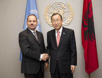 Secretary-General Meets President of Albania