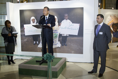 "Opening of Photo Exhibit, ""World Hunger: A Solvable Problem"""