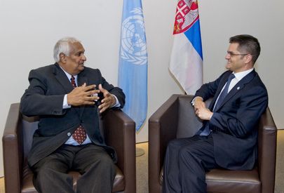 General Assembly President Meets Foreign Minister of Trinidad and Tobago