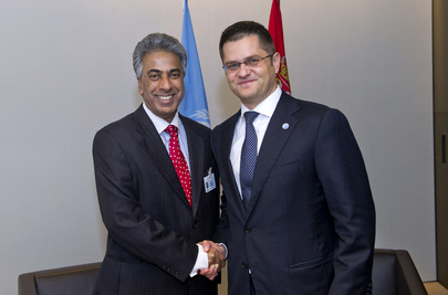 General Assembly President Meets Foreign Minister of Mauritius